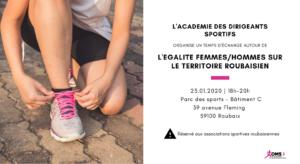 Temps d'échange sur l'égalité femmes/hommes sur le territoire roubaisien @ Salle des Amis du Paris-Roubaix
