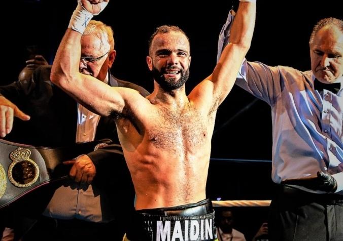 Maidin Elgarni, vainqueur de la ceinture WBA Intercontinental
