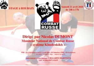 Stage Arts Martiaux - Combat Russe