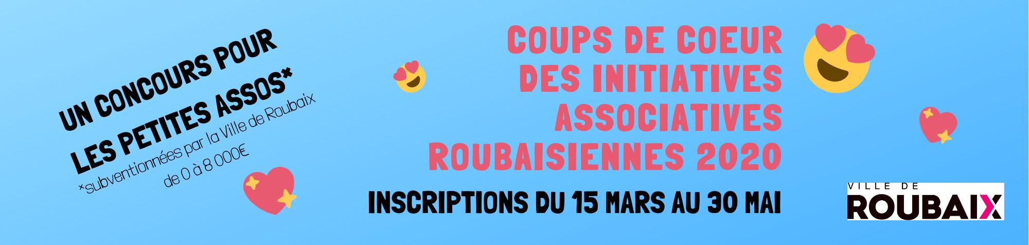 """Le concours des """"Coups de coeur des Initiatives Roubaisiennes"""" est renouvelé en 2020"""